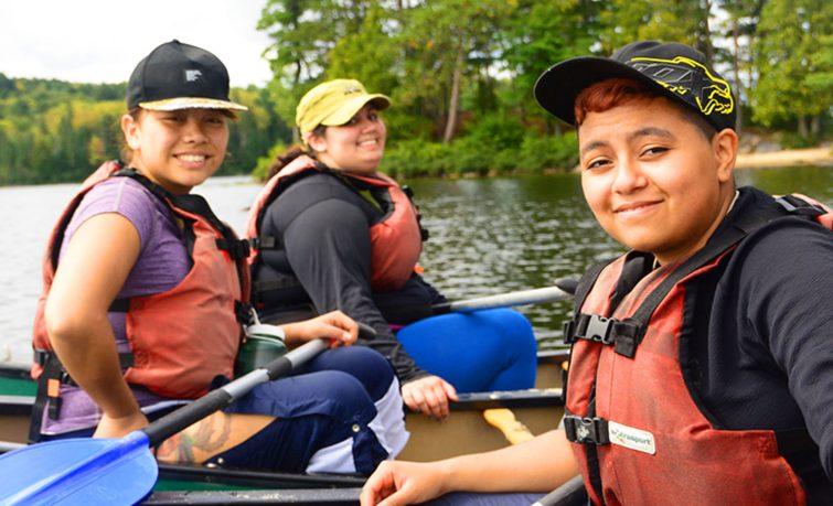 Charitable women canoeing slideshow