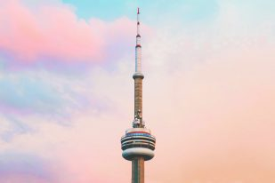 cn tower toronto urban graphic